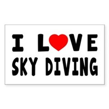 I Love Sky Diving Decal