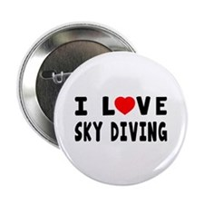 """I Love Sky Diving 2.25"""" Button (10 pack)"""