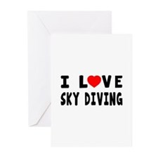 I Love Sky Diving Greeting Cards (Pk of 20)