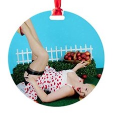 Apples Round Ornament