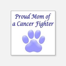 "Proud Mom Paw Square Sticker 3"" x 3"""