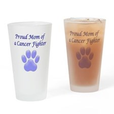 Proud Mom Paw Drinking Glass
