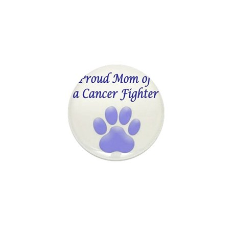Proud Mom Paw Mini Button