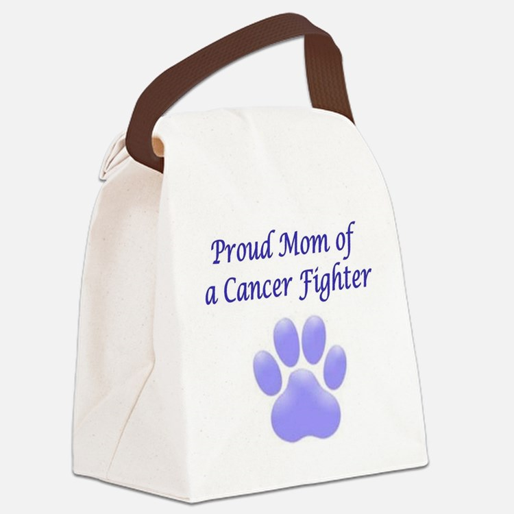 Proud Mom Paw Canvas Lunch Bag