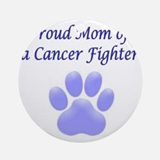 Proud Mom Paw Round Ornament
