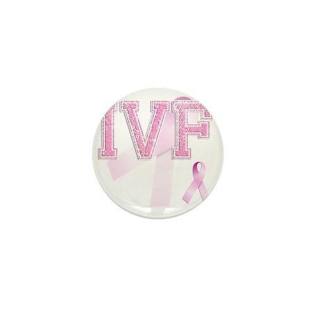 IVF initials, Pink Ribbon, Mini Button