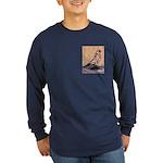 Tortoiseshell West Long Sleeve Dark T-Shirt