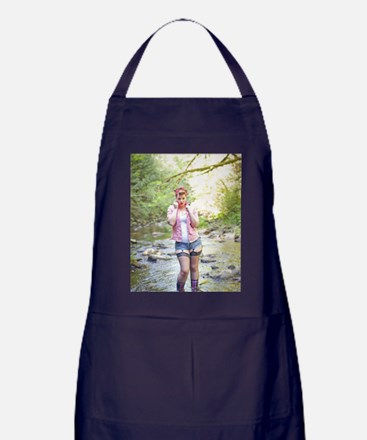 Down by the River Apron (dark)