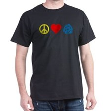 Peace, Love & Vinyl T-Shirt