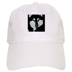 Malamute Black & White Baseball Cap