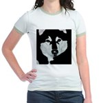Malamute Black & White Jr. Ringer T-Shirt