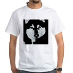 Malamute Black & White White T-Shirt