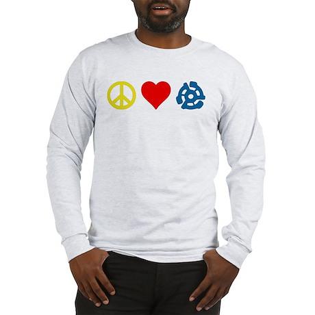 Peace, Love & Vinyl Long Sleeve T-Shirt
