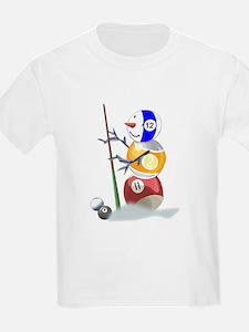 Billiards Ball Snowman T-Shirt