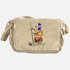 Billiards Ball Snowman Messenger Bag