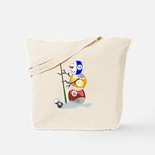 Billiards Ball Snowman Tote Bag