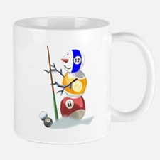 Billiards Ball Snowman Mug