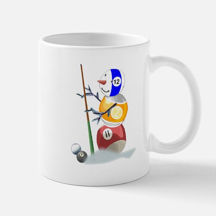 Billiards Ball Snowman Mug