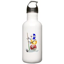 Billiards Ball Snowman Water Bottle