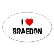 I * Braedon Oval Decal