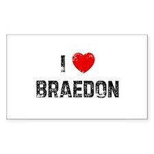 I * Braedon Rectangle Decal