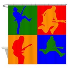 Rock Star Pop Art Shower Curtain