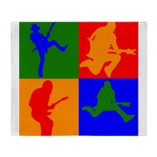Rock Star Pop Art Throw Blanket