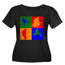 Rock Star Pop Art Plus Size T-Shirt