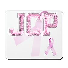 JCP initials, Pink Ribbon, Mousepad