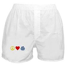Peace, Love & Vinyl Boxer Shorts