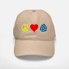 Peace, Love & Vinyl Baseball Baseball Cap