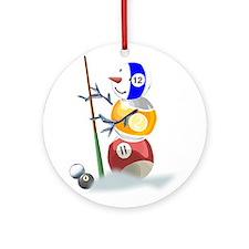Billiards Ball Snowman Ornament (Round)