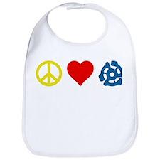 Peace, Love & Vinyl Bib