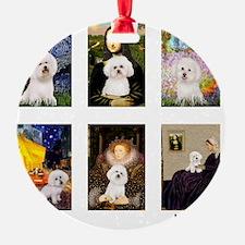 FamousArt-BichonFrise-CLEAR Ornament