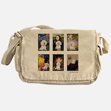 FamousArt-BichonFrise-CLEAR Messenger Bag