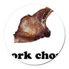 pork chop Round Car Magnet