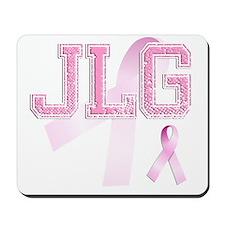 JLG initials, Pink Ribbon, Mousepad