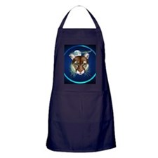 Circle Midnight Mountain Lion. Apron (dark)