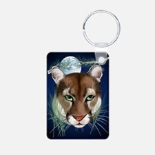 Midnight Moutian Lion Post Keychains
