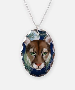 Midnight Moutian Lion PosterP Necklace