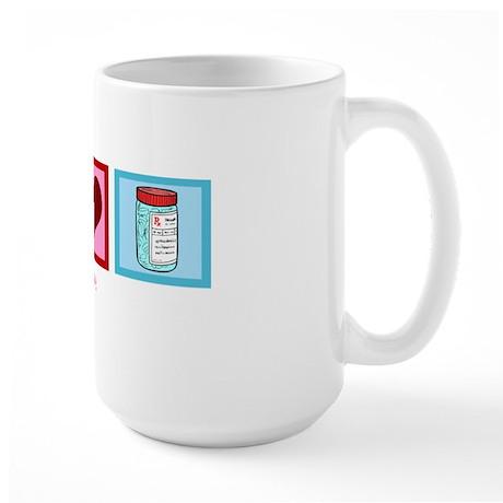 peacelovepharmacistwh Large Mug