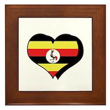 I Love Uganda Framed Tile