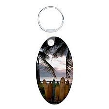 Surf Costa Rica Aluminum Oval Keychain