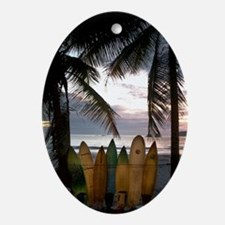 Surf Costa Rica Oval Ornament