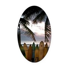 Surf Costa Rica Oval Car Magnet