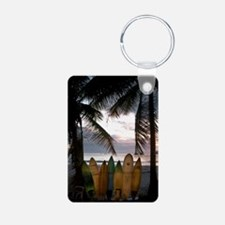 Surf Costa Rica Aluminum Photo Keychain
