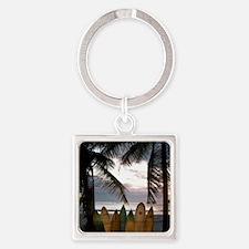 Surf Costa Rica Square Keychain