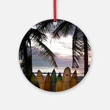 Surf Costa Rica Round Ornament