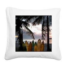 Surf Costa Rica Square Canvas Pillow