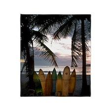 Surf Costa Rica Throw Blanket